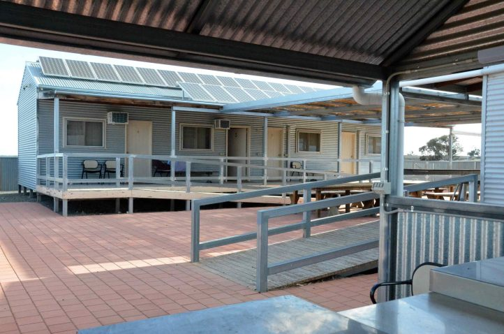 Cabins with shared facilities at Park HQ