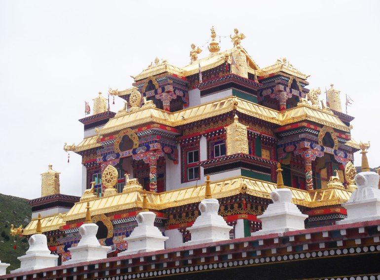 מתחם המקדשים של דזוגצ'ן גומפה (צילום: נוגה פייגה)