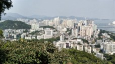 View of Zhuhai north from Shijing Mountain park