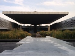 The courtyard at the Museum of Anthropology