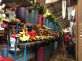 Loved the flowers at Mercado Juárez but not the fried grasshoppers!
