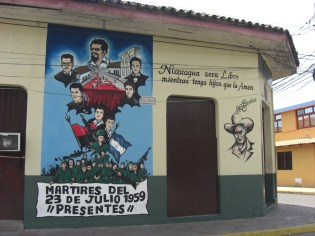 Signs of the revolution in Leon
