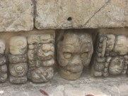 A slightly scary face at Copan