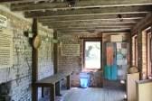 Inside a Boone Hall slave cabin