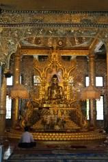 The gilded bronze Buddha at Botataung Paya