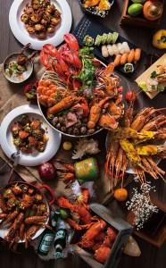 廣告,凱達大飯店,百宴自助餐,海鮮之夜