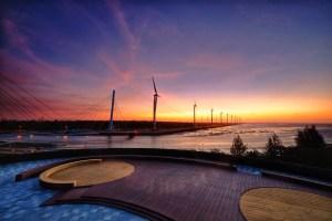 中部觀光景點串連,免費接駁台中港 高美濕地