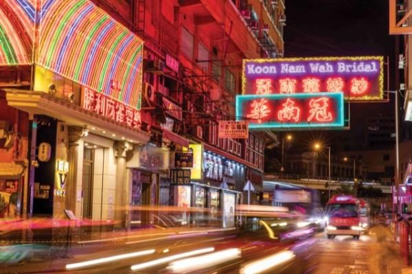 香港,街景,霓虹燈,,攝影,線上出國