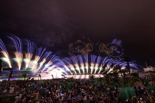 澎湖國際海上花火節,澎湖花火節,LINE FRIENDS,熊大,兔兔,莎莉,無人機,燈光秀