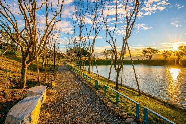 新北景點,樹林河濱公園,沐心池,雙心