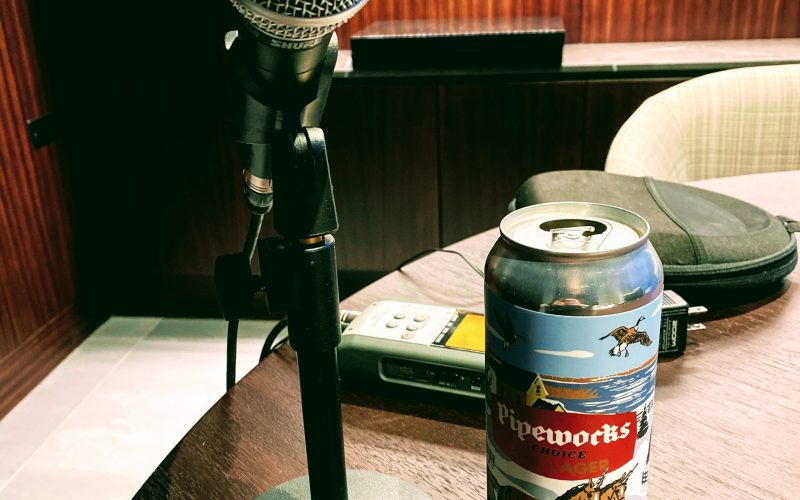 Microphone and a Beer Can