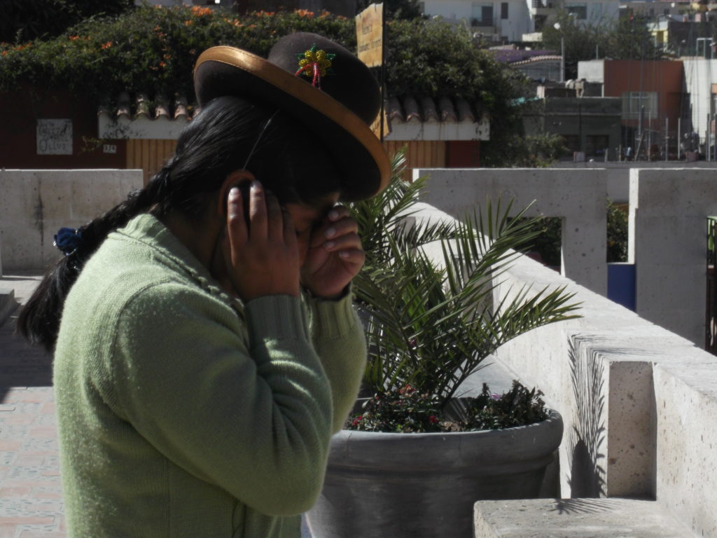 Indigenous woman arequipa peru