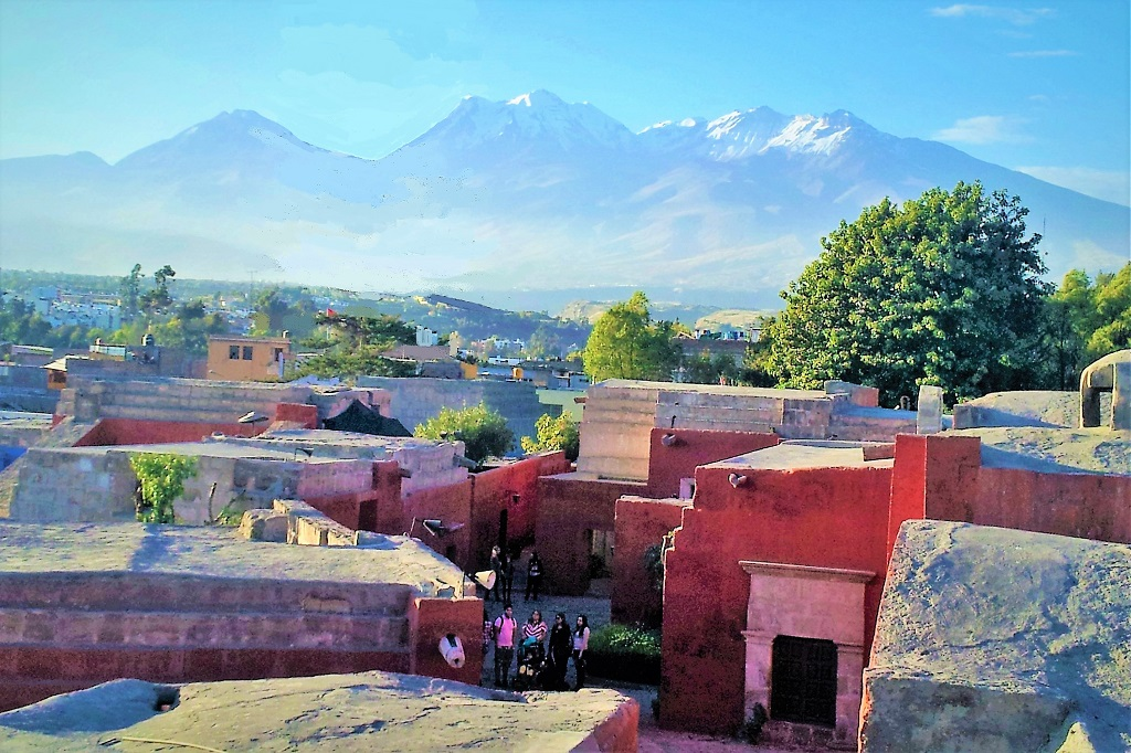 View over Santa Catalina Monastery, Arequipa, Peru