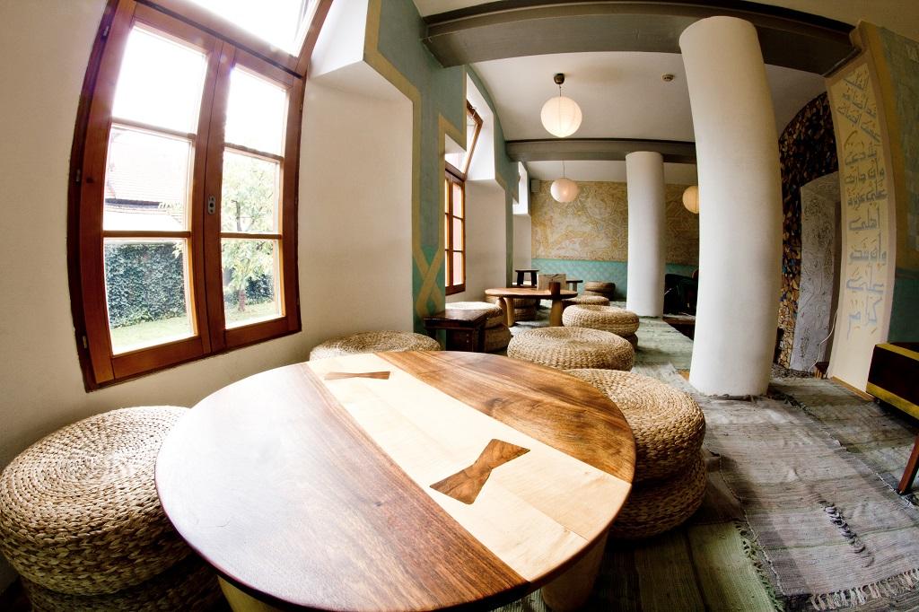 The Oriental Cafe Lounge, Celica Hostel, Ljubljana, Slovenia.