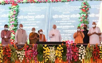 Indian PM participates in an event marking Abhidhamma Day at the Mahaparinirvana Temple in Kushinagar, Inaugurates Kushinagar International Airport