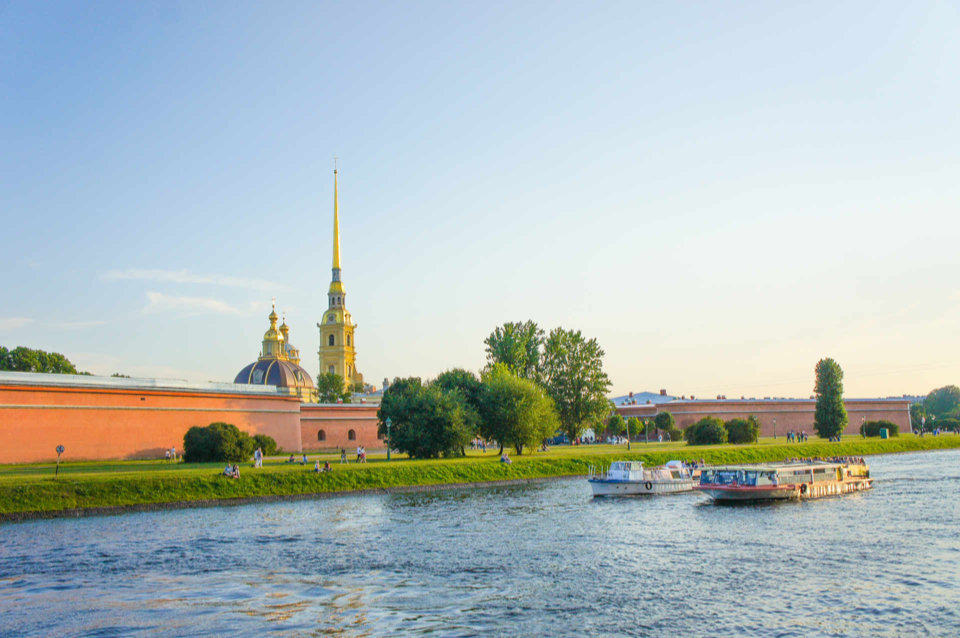 Peter And Paul Fortress is a heart of St. Petersburg Russia