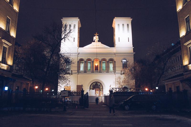 Petrikirche in St. Petersburg, Russia