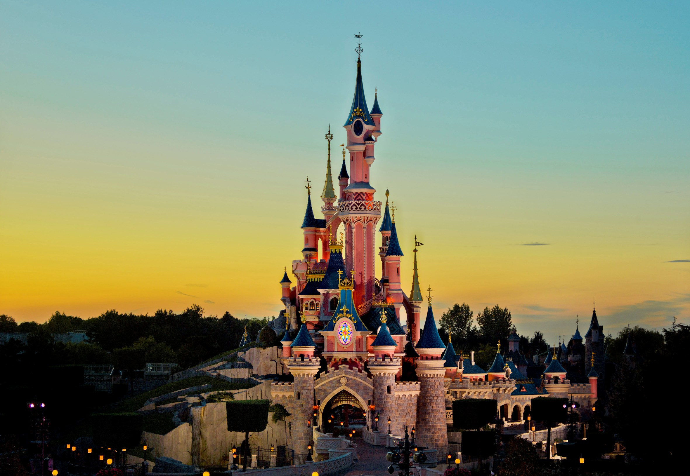 Disneyland Paris Sleeping Beauty Castle - Dusk