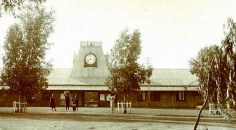 The Nairobi railway station in its early days