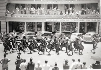Hardinge Street, 1950: taken on March 31, 1950, during a pageant to commemorate the birth of a city. The Duke of Gloucester proclaimed Nairobi a Charter City