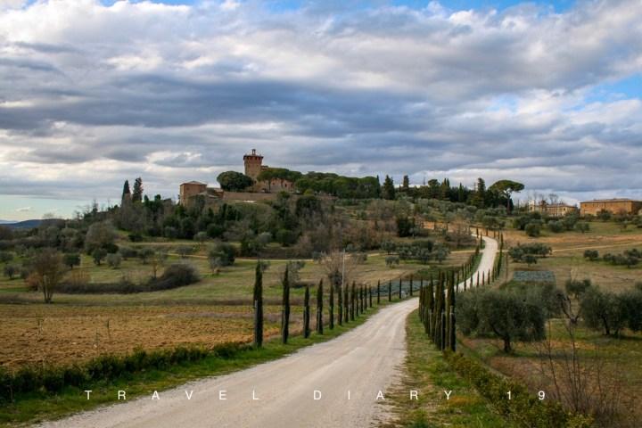 La città di Pienza, in Val d'Orcia, Toscana