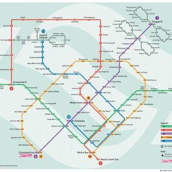 Mappa metro di Singapore