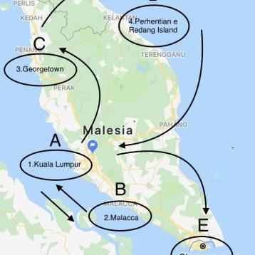 Mappa tour Malesia