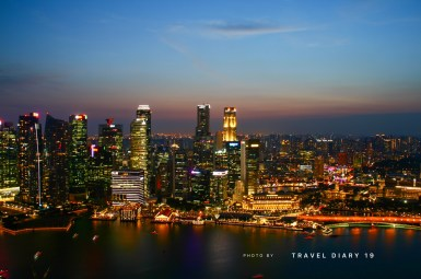 Visuale dallo sky deck del Marina Bay di Singapore