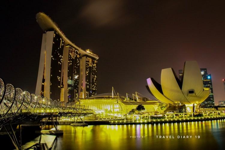 Marina Bay by night, Singapore