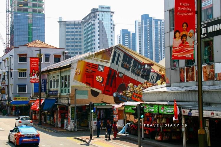 Per le street di Singapore