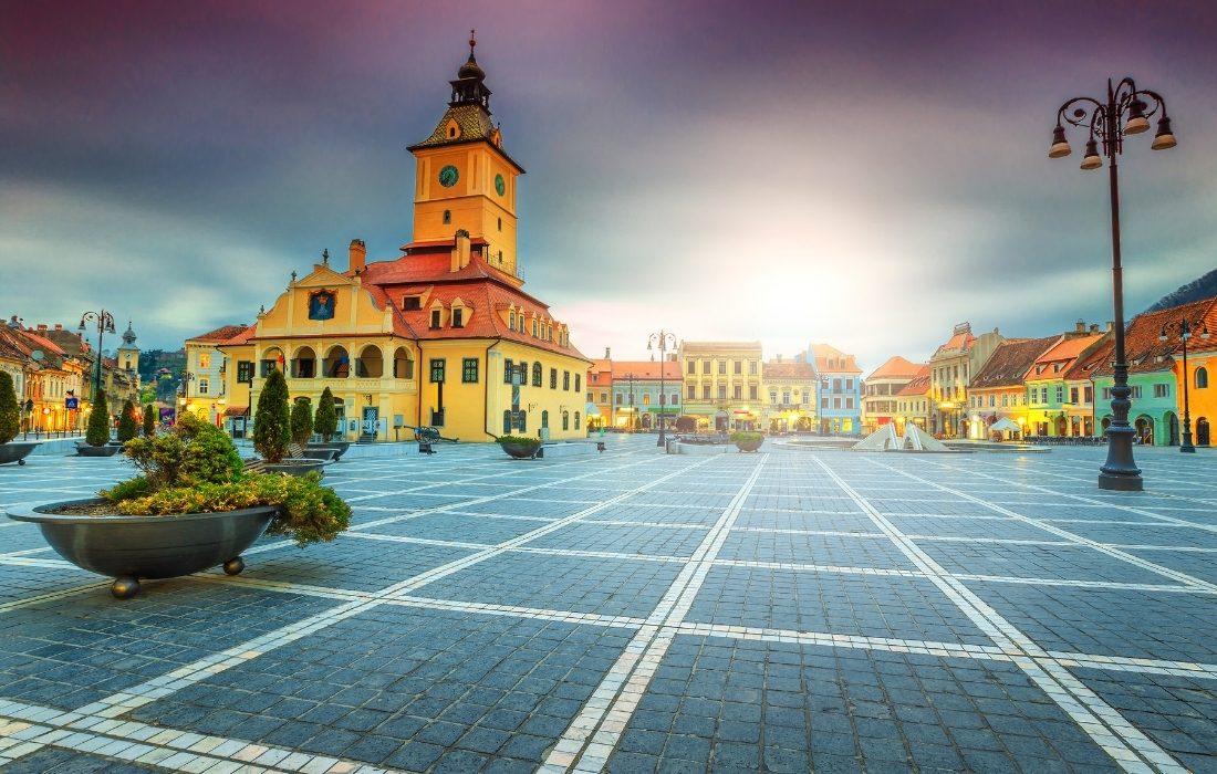 Il centro di Brasov, comune in Transilvania