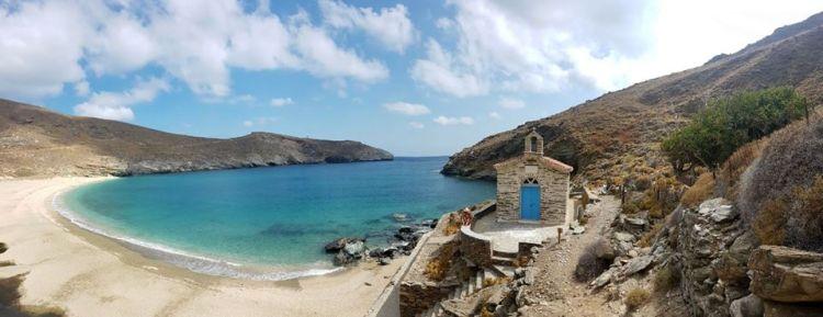 Spiaggia deserta delle Cicladi, Grecia