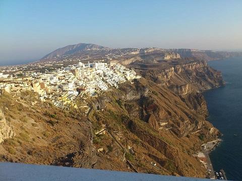 La vista di Santorini