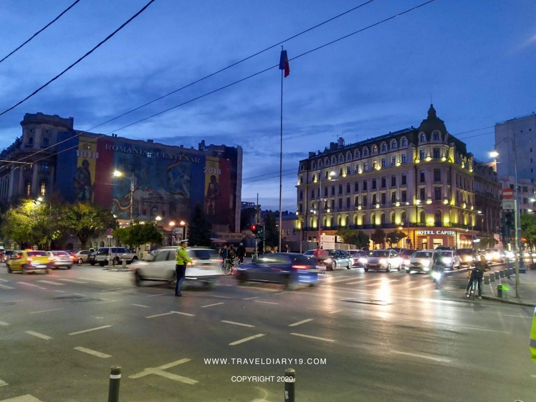 Traffico nella città di Bucarest
