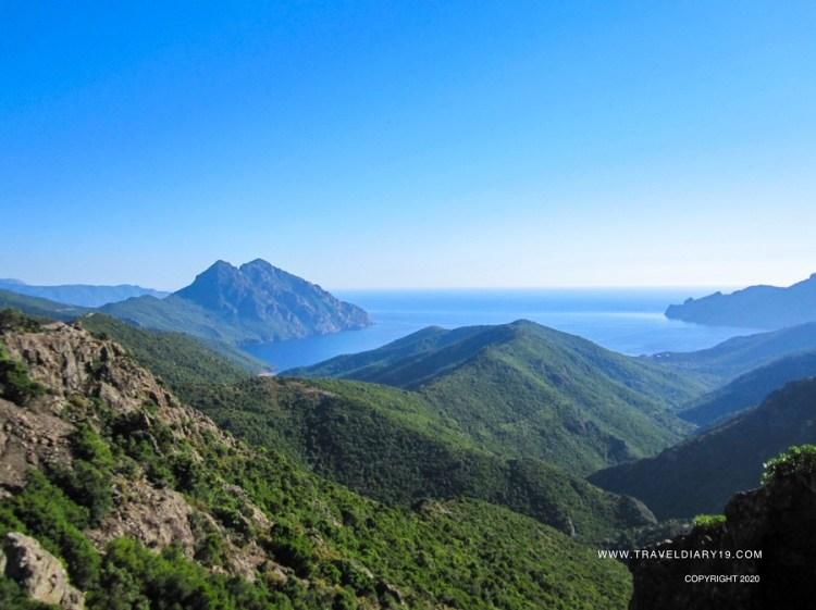 Interno della Corsica e vista mare