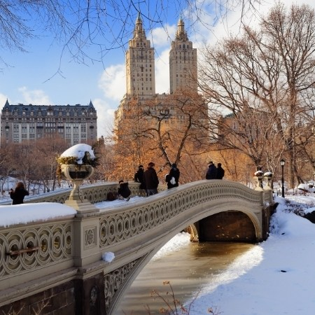 New York, Central Park in inverno