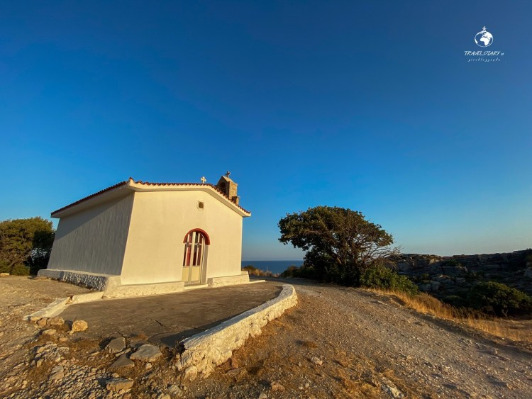Church on the street to Fossil Forest, Capo Maleas Greece