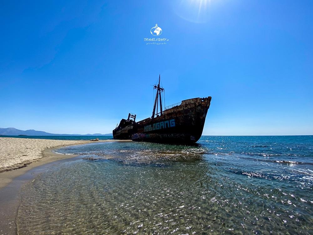 Relitto a Ghityo, nel Mani Grecia