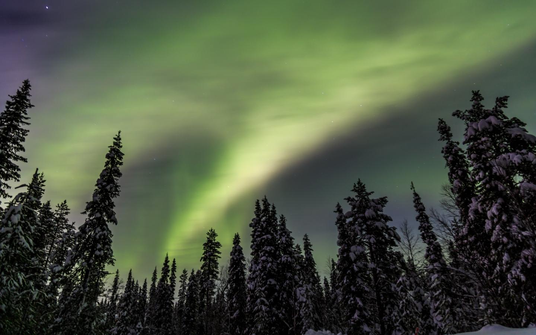 Aurora boreale in Lapponia finlandese