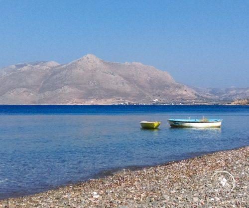 La spiaggia di Livadia, Tilos