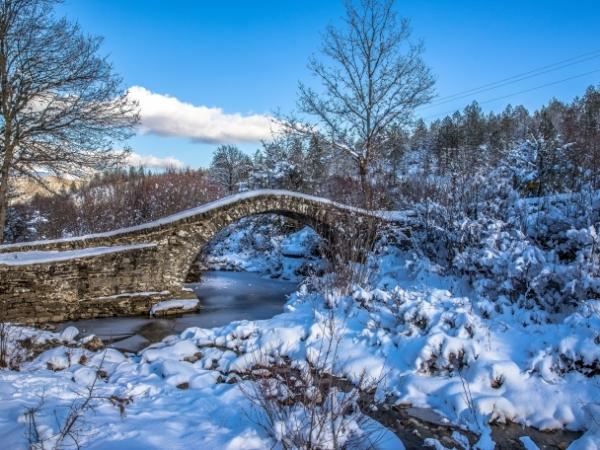 Ponte a Zagorochoria in inverno, Epiro