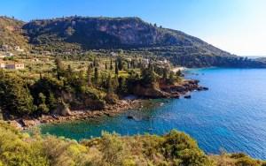 Panorama di Kardamili, nel Peloponneso, Grecia