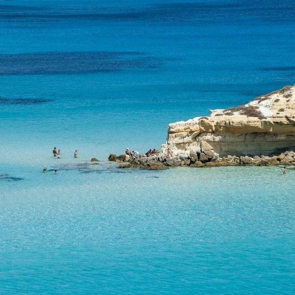 Il paradiso di una spiaggia di Lampedusa