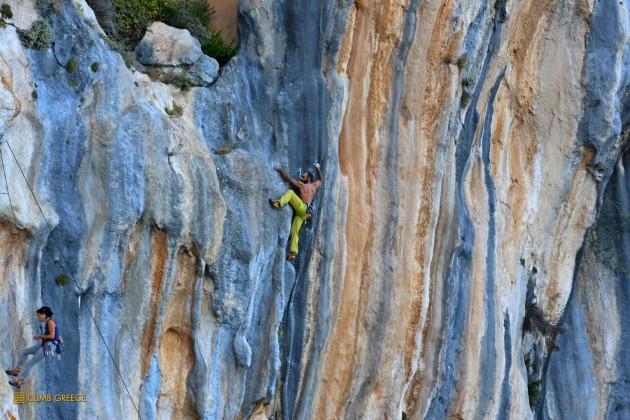 Climbing in Kyparissi