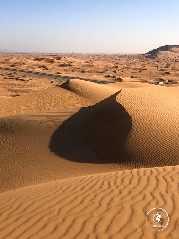 Deserto intorno a Dubai