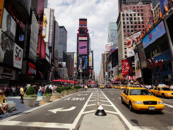 Times Square York Famous Entertainment Centers In World