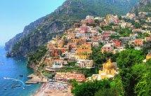 Amalfi Coast Italy Beautiful Seaside Panorama
