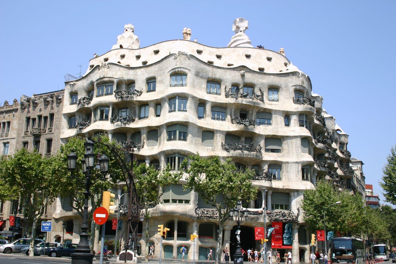 Casa Mila Cave in the elite area of Barcelona