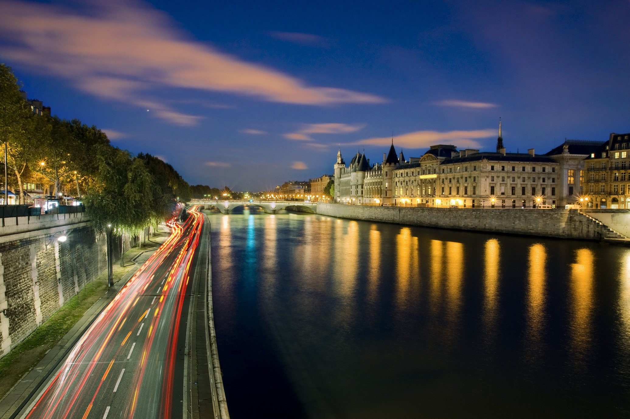 Good Evening Hd Wallpaper Seine River The River That Became An Icon Of The Romantic