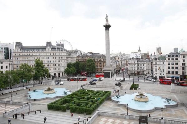 Trafalgar Square British Society Gathered